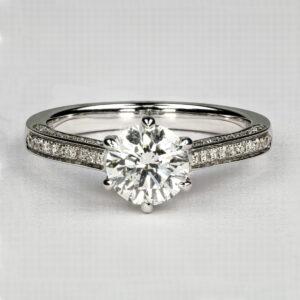 2021 Alan Dalton goldsmith platinum diamond ring