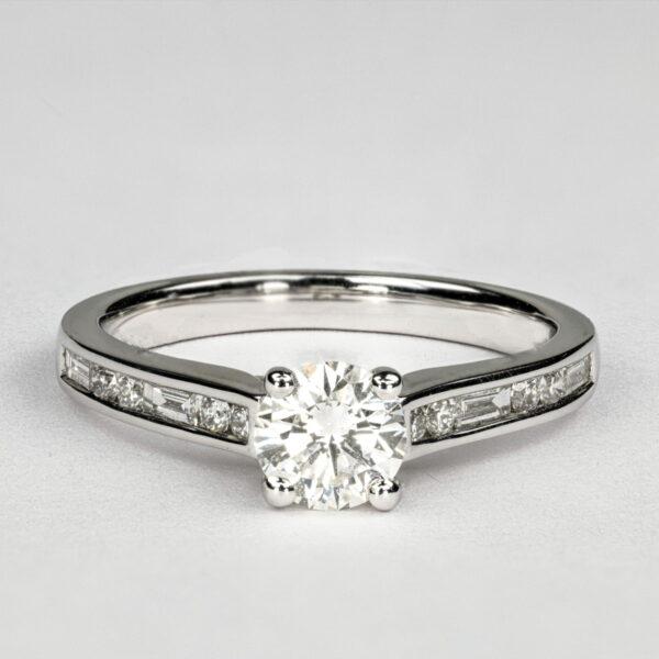 Alan Dalton goldsmith channel set diamond ring