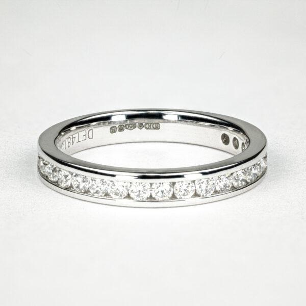 Alan Dalton goldsmith diamond channel set wedding ring