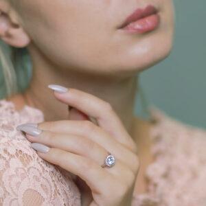 Alan Dalton goldsmith diamond halo white gold