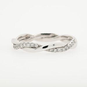 Alan Dalton goldsmith diamond white gold twist ring