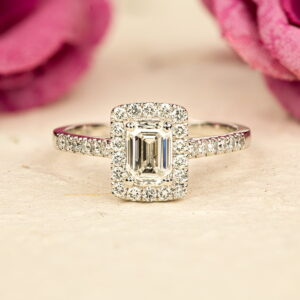 Alan Dalton goldsmith emerald cut diamond