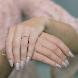 Alan Dalton goldsmith half set diamond ring