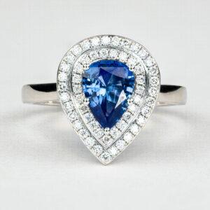 Alan Dalton goldsmith handmade sapphire