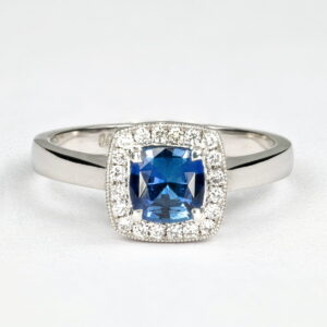 Alan Dalton goldsmith sapphire diamond ring 1