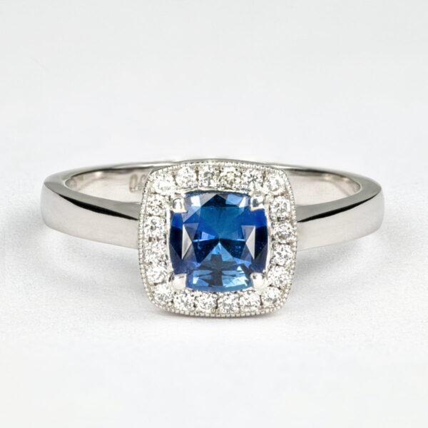 Alan Dalton goldsmith sapphire diamond ring 1