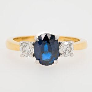 Alan Dalton goldsmith sapphire ring