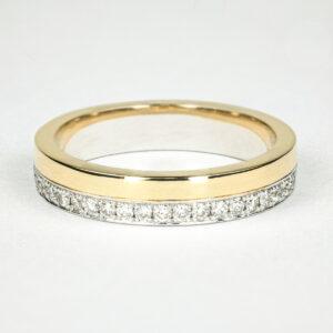 Alan Dalton goldsmith yellow gold diamond wedding ring