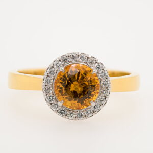 Alan Dalton goldsmith yellow sapphire diamonds
