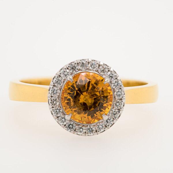 Alan Dalton goldsmith yellow sapphire diamonds