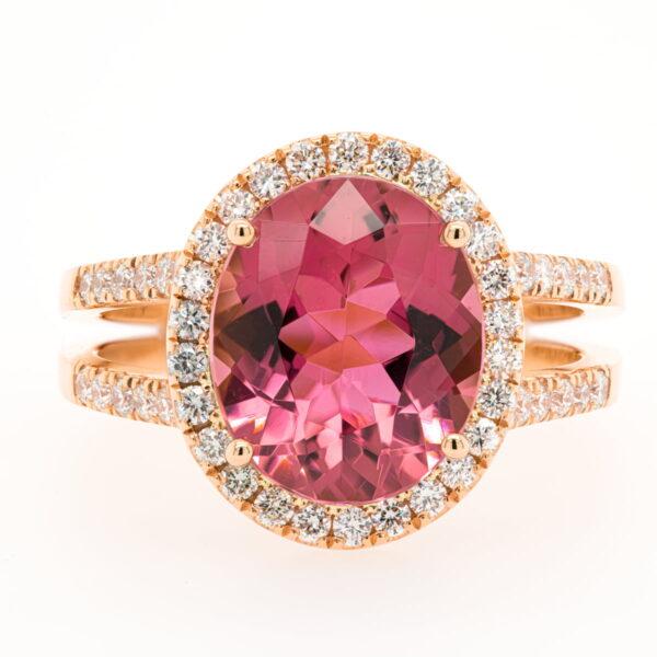 Alan Dalton goldsmith pink tourmaline